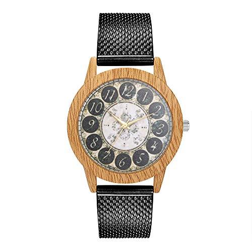 Women Fashion Silica Gel Band Analog Quartz Round Wrist Watch Watches,Outsta Bracelet Watch for Women Girls Gift Present (Black) ()