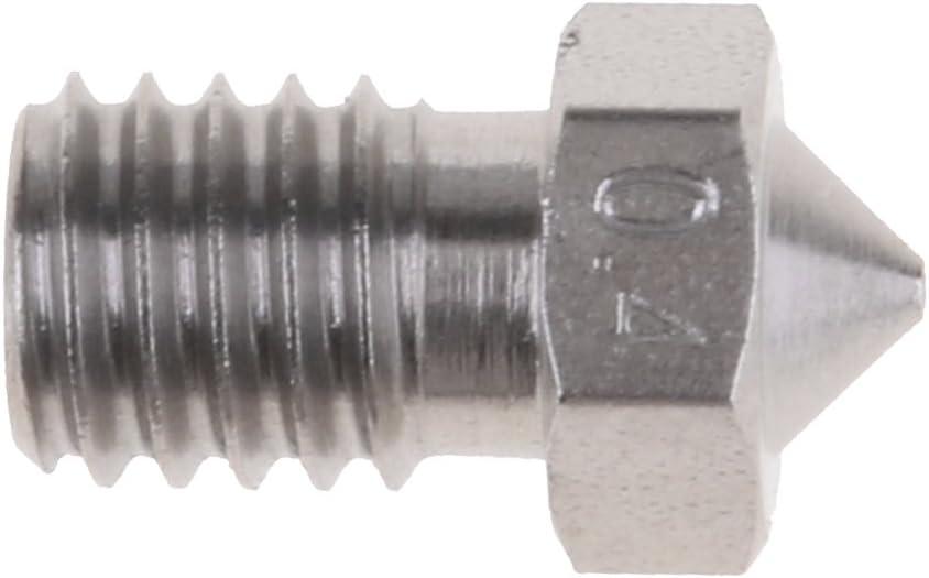 0.4mm MK8 V5 VY 1.75mm Estrusore Ugello Spruzzo Nichel Acciaio Inox