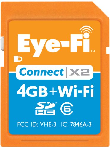 Eye-Fi Connect X2 4 GB Class 6 SDHC Wireless Flash Memory Ca