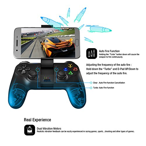 Large Product Image of GameSir T1s Bluetooth Gaming Controller 2.4G Wireless Gamepad for Android Smartphone Tablet/ PC Windows/ Steam/ Samsung VR/ TV Box/ PS3