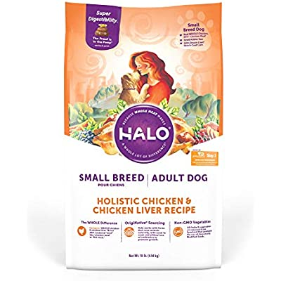 Halo Natural Dry Dog Food, Small Breed Chicken & Chicken Liver Recipe