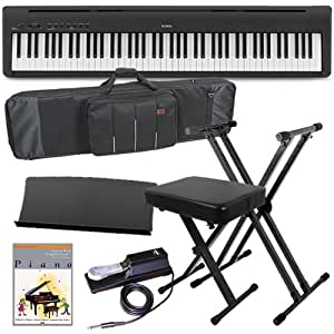kawai es100 portable digital piano stage essentials bundle 5 items musical. Black Bedroom Furniture Sets. Home Design Ideas