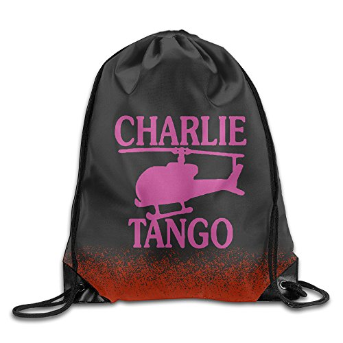 50 Shades Of Grey Charlie Tango White Sports Backpack Bag (Cast And Crew Of 50 Shades Of Grey)