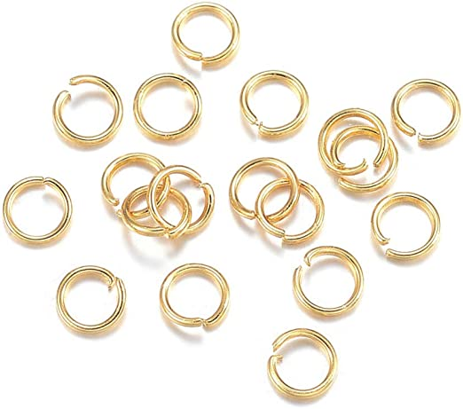 DanLingJewelry 500Pcs 304 Stainless Steel 27 Gauge Open Jump Rings 3mm for Jewelry Making Connectors Jewelry Finding Golden Color
