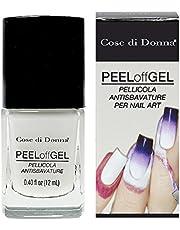 Peel Off Gel Smalto rimovibile Pellicola Antisbavature per Nail Art Stamping e Aerografo Liquido protezione delle Dita e Pelle MADE IN ITALY