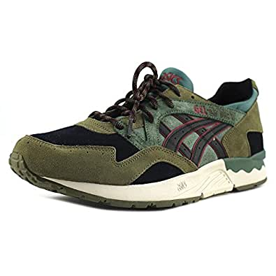 Image Unavailable. Image not available for. Colour: Asics Men's Gel-Lyte V  Black / Brown Ankle-High Running Shoe ...