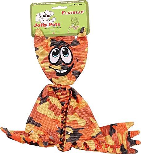 Image of Jolly Pets Flathead Tug/Squeak Toy, Camo, Medium