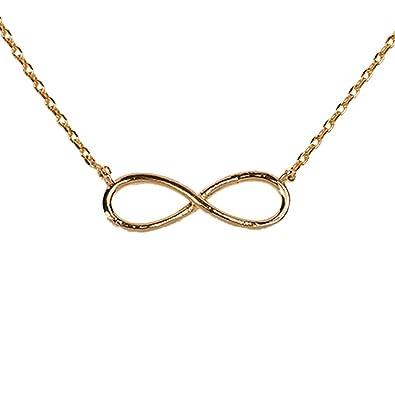 ba242aaf02c9 LuckyLy – Collares Infinito Mujer – Collares de Mujer Infinity – Cadena  Baño de Oro y