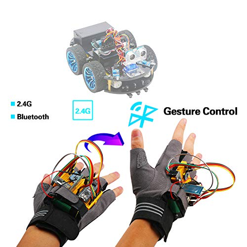 Emakefun Gesture-Motion Starter Kit for Arduino Nano V3.0 Support Robot Smart Car with MPU6050 6 Axis Accelerometer Gyroscope Module,NRF24L01+ Wireless Module,Bluetooth Module