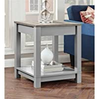 Sturdy Better Homes and Gardens Langley Bay End Table, Gray/Sonoma Oak