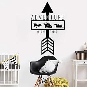 Ajcwhml Adventure is Arrow Quote Tatuajes de Pared Vinilo Art ...