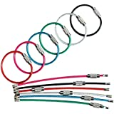 bayite BYT-WKC-4INP12 4 Inches Key Rings Stainless Steel Wire Keychains Cable Heavy Duty Luggage Tags Loops Tag Keepers 2mm Twist Barrel Pack of 12
