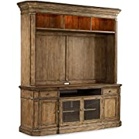 Hooker Furniture Solana Two Piece Home Entertainment Group in Light Oak