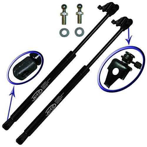 (Two Front Hood Gas Charged Lift Supports for 1997-2001 Toyota Camry. With 2 Replacement Studs and Washers. Left and Right Side. WGS-623-2)