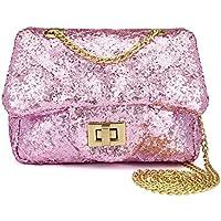 CMK Trendy Kids Toddler Kids Quilted Glitter Crossbody Handbags Purse Gifts for Girls