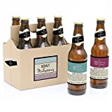 Mommy's First Milestones - 6 Beer Bottle Labels with 1 Beer Carrier