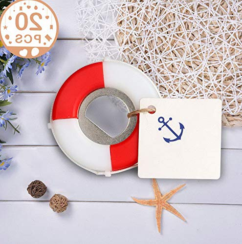 (Gatton 20pcs Nautical ding Favors for Gus Lifesaver Bottle Opener with Anchor Tags Beach ding Nautical Party Favors for Shower Birthday Party Decor   Model WDDNG - 1851  )