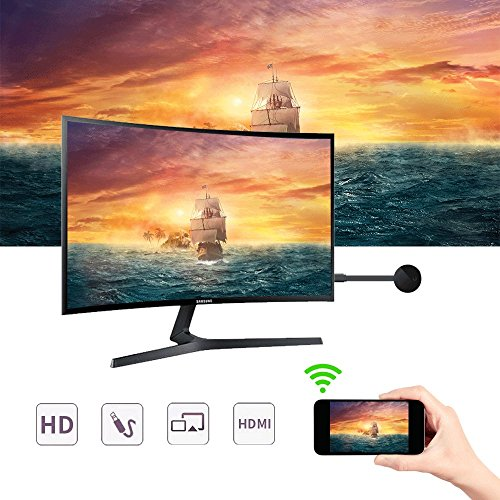 2018 YEHUA WiFi Display Dongle HDMI 1080P TV Receiver Adapter Mirroring Screen from Phone to Big Screen Support Miracast Airplay DLNA TV Stick for Android/Mac/ iOS/Windows. by Yehua (Image #4)