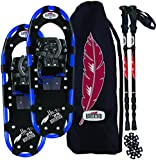 Redfeather Men's Series Hike 22 SV2 Snowshoes Kit, Ski Poles and Carry Bag - 147310KIT
