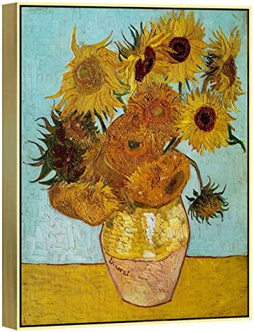 Wieco Art Framed Art Sunflower Large Canvas Prints Wall Art