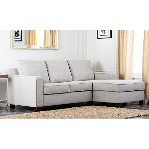 Sectional sofas couches for Abbyson living soho cream fabric chaise