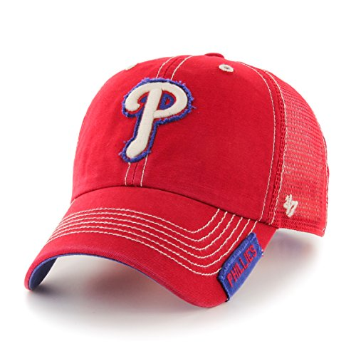 llies Turner Clean Up Adjustable Hat, One Size, Red (Phillies Gear)