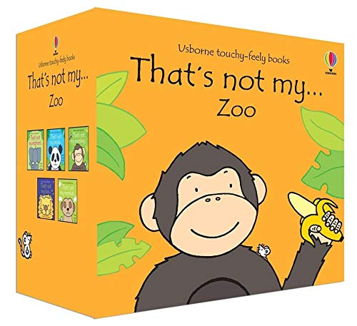 Set Of 4 Touchy Feely Books Zoo Book Gift Usborne That's Not My Animals Pack