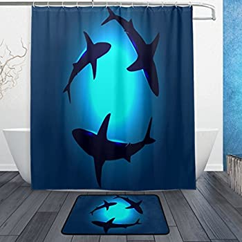 """Best New Swimming Stitch And Turtles Print Custom Shower Curtain Size 60/"""" x 72/"""""""