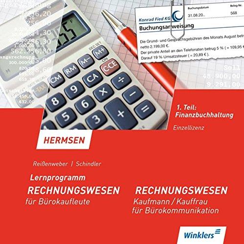 Lernprogramm zu Hermsen, Rechnungswesen für Bürokaufleute, Kaufmann / Kauffrau für Bürokommunikation: 1. Teil: Finanzbuchhaltung: CD-ROM, Einzelplatzlizenz