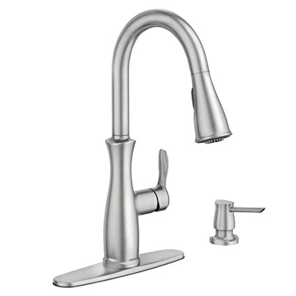Moen Nellis Single Handle Pull Down Sprayer Kitchen Faucet With
