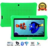 "Contixo Kids Tablet K1 | 7"" Display Android 6.0 Bluetooth WiFi Camera Parental Control for Children Infant Toddlers w/Free Tablet Case (Green)"