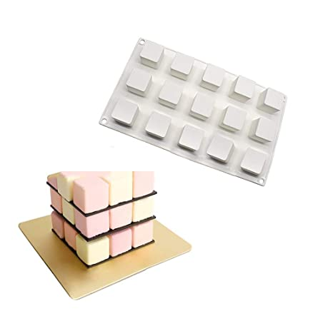 Los moldes de silicona para hornear la torta de mousse de 8 o 15 ...