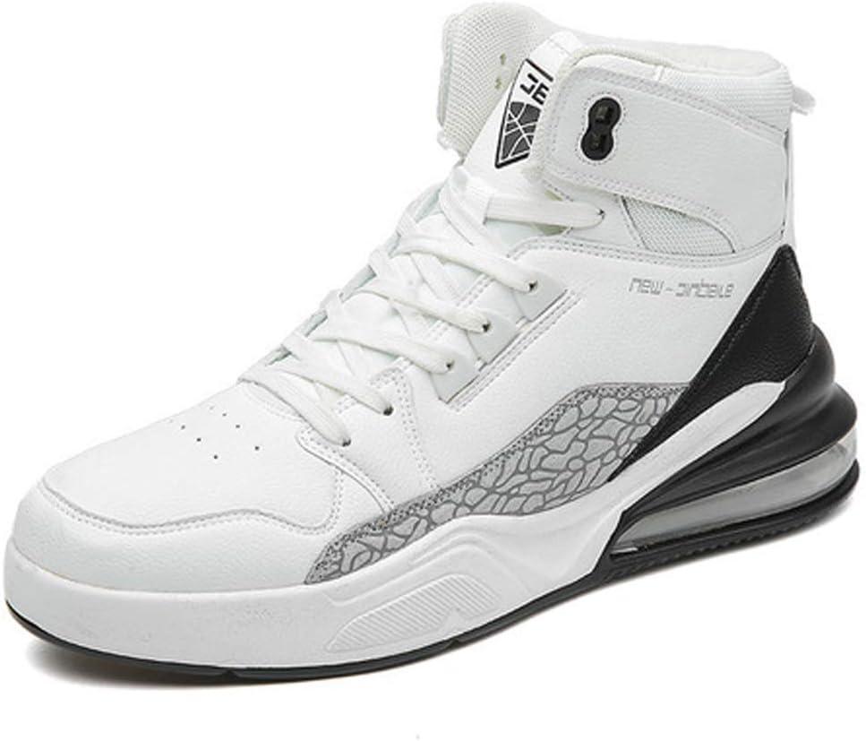 AIALTS Cojín Aire Semi Hombres Alta Manera de la Tapa Zapatillas Deporte,jóvenes Resistentes Desgaste absorción Impactos Carretera Deportes Aire Libre Botas Running Zapatos Que Caminan,Whiteblack,40: Amazon.es: Hogar
