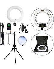 Kit d'éclairage vidéo pour appareil photo Yidoblo: 18 pouces extérieur, éclairage annulaire à LED 96W 5500K, Télécommande, support de caméra