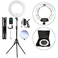 Yidoblo 96W 18 480 LED Ring Light Kit with Makeup Mirror,Tripod Stand,Camera Phone Holder and Bag,Bicolor Continuous Lighting for Photo Studio Video Portrait Film Selfie Youtube Photography