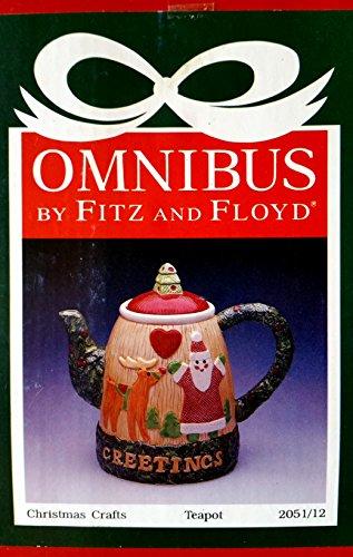 Fitz & Floyd Omnibus - Fitz And Floyd Omnibus Teapot 1990 Christmas Holiday