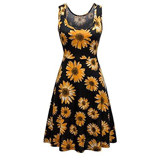 ARINLA 2018 Summer Women Vintage Beach Bohe Casual Flower Tank Short Mini