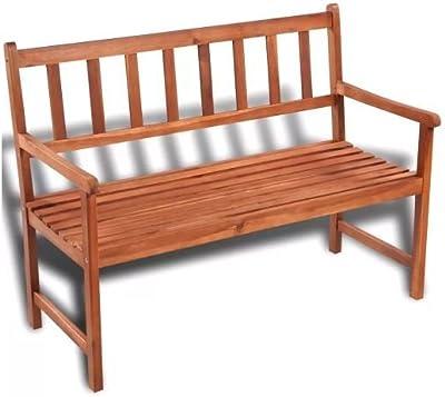 Comfyleads Classic Garden Bench Wooden Outdoor Wood Patio Indoor Home Decor Furniture Acacia