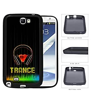 Love Trance Music With Colorful Equalizer Silicone Cell Phone Case Samsung Galaxy Note 2 II N7100