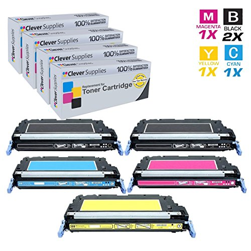 CS Compatible Toner Cartridge Replacement for HP 3800 Q6470A Black Q7581A Cyan Q7582A Yellow Q7583A Magenta HP 502A & HP 503A Color LaserJet 3600n 3600dn 3800dn 3800dtn CP3505n CP3505dn 5 Color Set