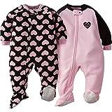 GERBER Baby Girls' 2-Pack Blanket Sleeper, Love, 18