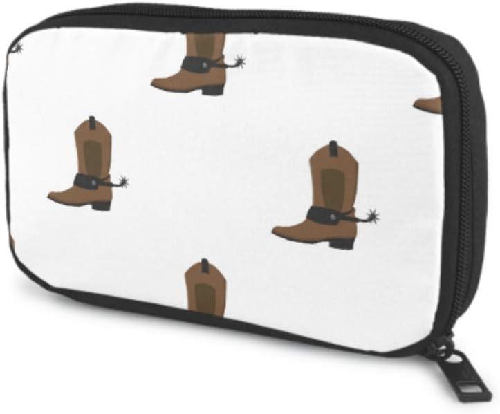 Organizador de Bolsa de Viaje electrónico Retro Cartoon Fashion Cowboy Boots Organizador de Bolsa de Cable para Varios Cables USB Cargador de Auriculares Oficina de Viaje Organizador electrónico Bols