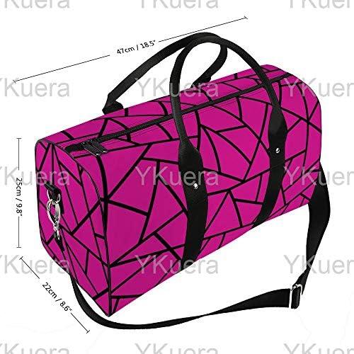 マゼンタの上に黒1 旅行バッグナイロンハンドバッグ大容量軽量多機能荷物ポーチフィットネスバッグユニセックス旅行ビジネス通勤旅行スーツケースポーチ収納バッグ