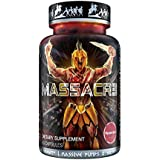 MASSACR3 Muscle Builder & Laxogenin Supplement w/ Superior Absorption | Mass Muscle Building & Recomping Formula w/ Nitric Oxide Stimulator VASO-6 & Urolithin B for Natural Body Building