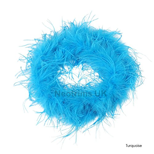Neotrims Marabou & Ostrich Feather Boa Fur Scarf, For Party, Burlesque Dancing, Costume, Fancy Dress. 9 Stunning Colours, Beautiful Soft Natural