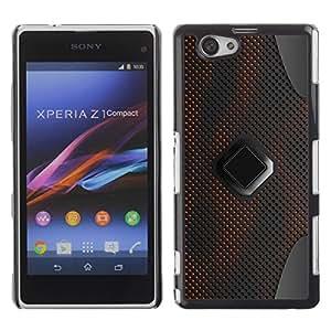 Estuche Cubierta Shell Smartphone estuche protector duro para el teléfono móvil Caso Sony Xperia Z1 Compact D5503 / CECELL Phone case / / Sci-Fi Pc Art Pattern Grey /