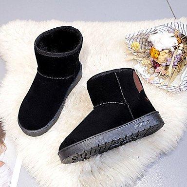 RTRY Zapatos De Mujer Cuero De Nubuck Pu Suede Moda Otoño Invierno Confort Botas Botas Planas Botas De Tacón Puntera Redonda Mid-Calf For Casual Rubor Rosa US6.5-7 / EU37 / UK4.5-5 / CN37
