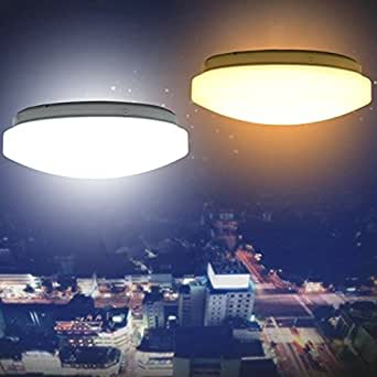 Modern 15W LED Round Ceiling Panel Light Down Lamp Kitchen Bathroom (Color Pure white)