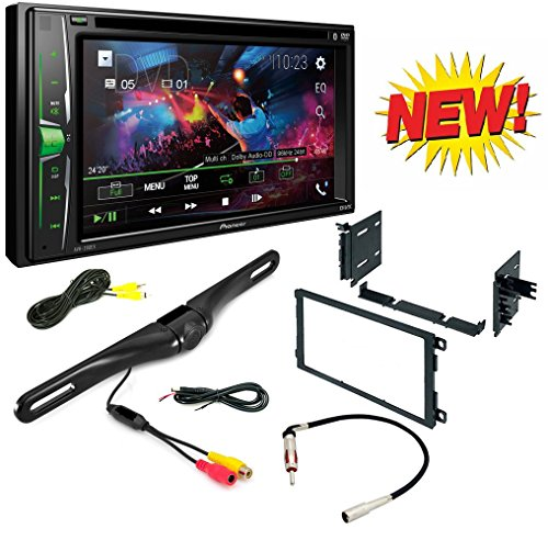 "Pioneer 2-Din 6.2"" DVD/CD/iPhone/Android/Bluetooth + Dash Mounting Installation Kit+ Radio Antenna Adapter + Night Vision Rear View Backup Color Camera"