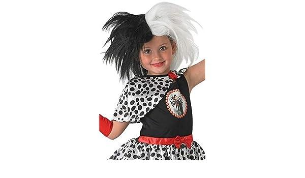 Original Con Licencia Disney Para Niñas Blanco y negro Cruella De ...